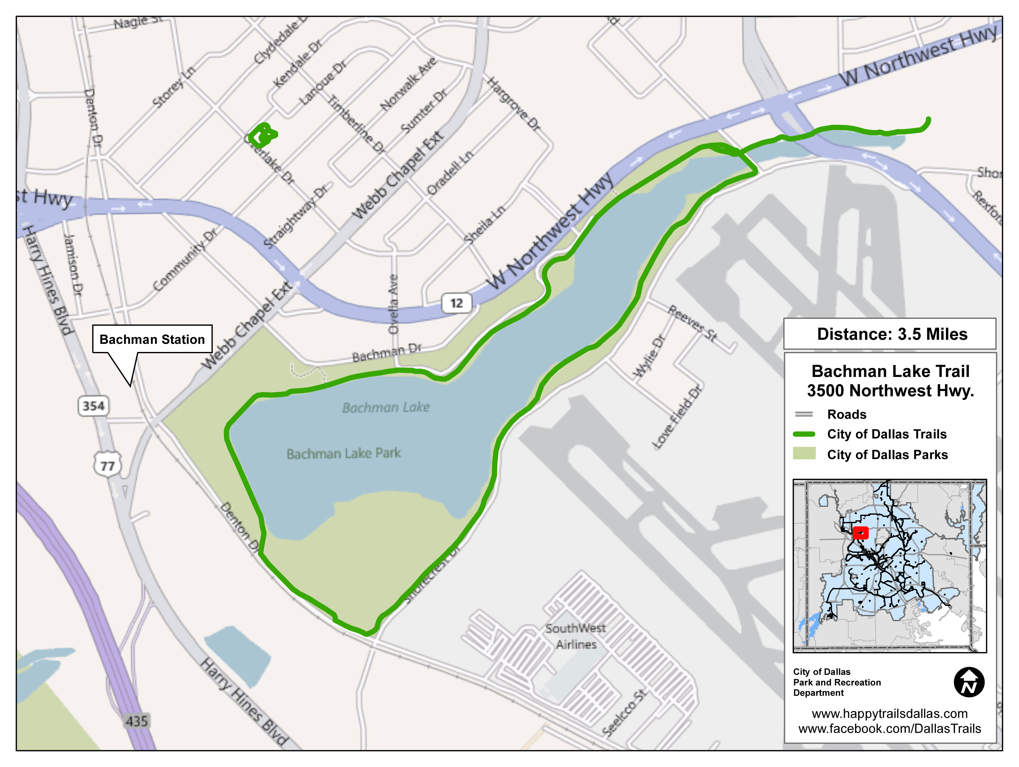 Bachman Lake Park Trail Map