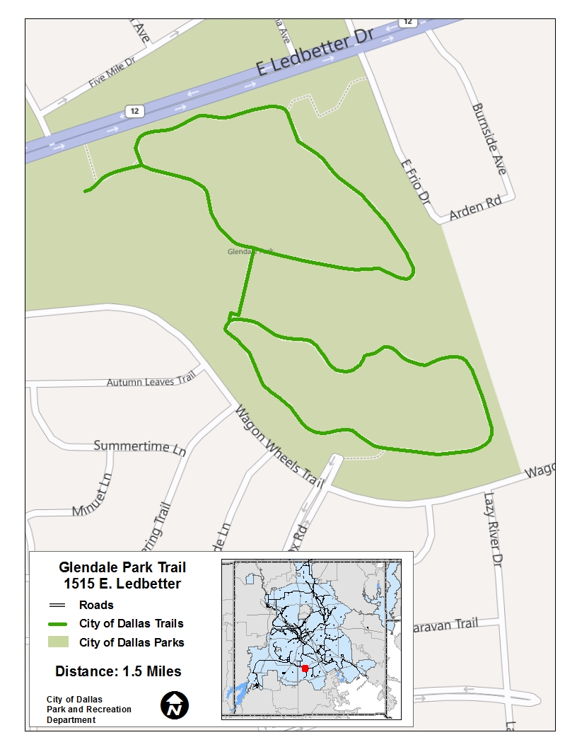 Glendale Park Trail Map