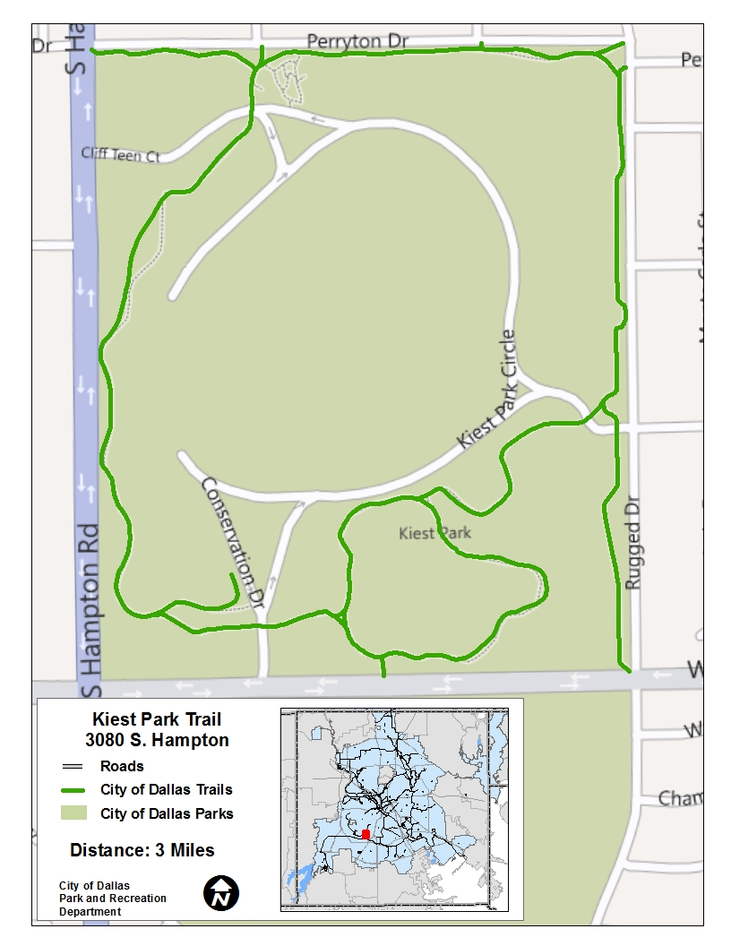 Kiest Park Trail Map