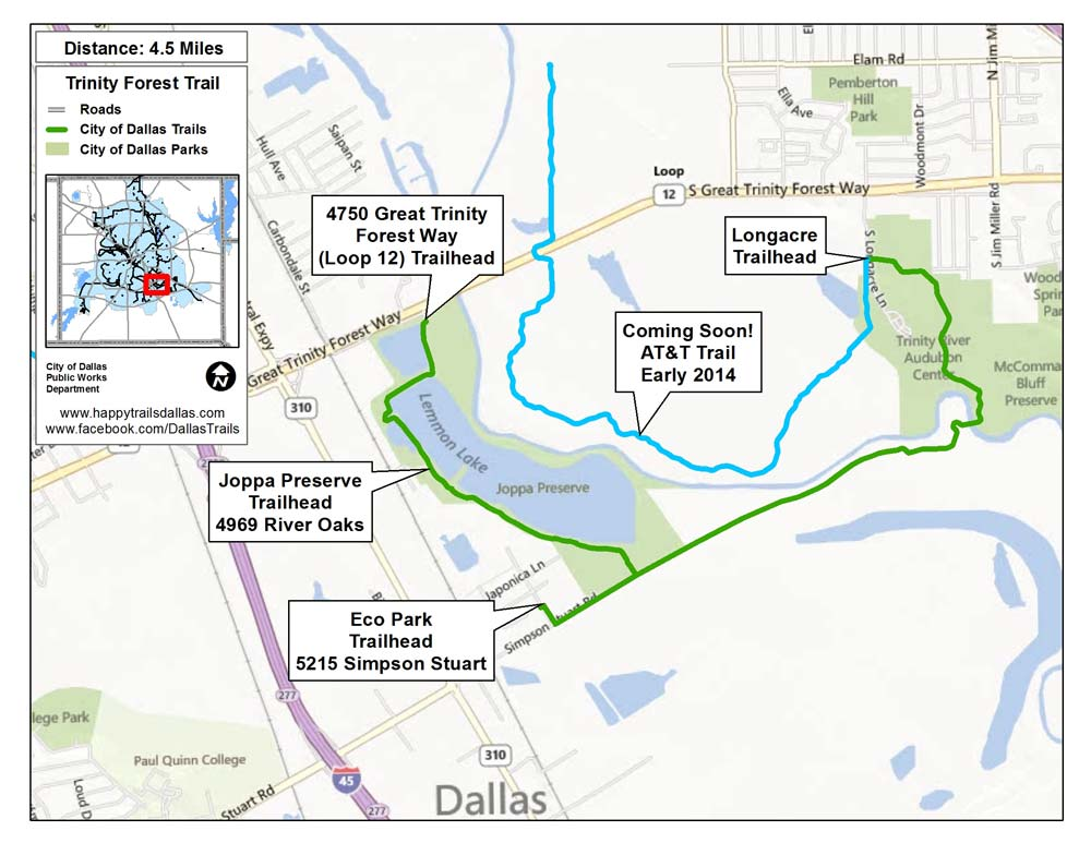 Trinity Forest Trail Map