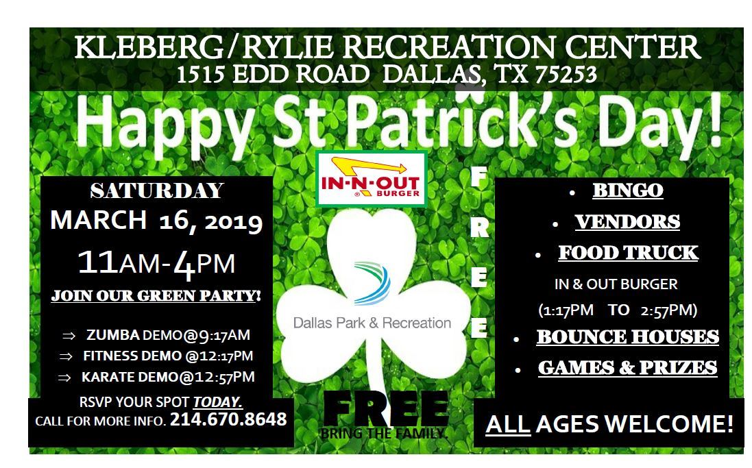 Kleberg St. Patricks Day flyer