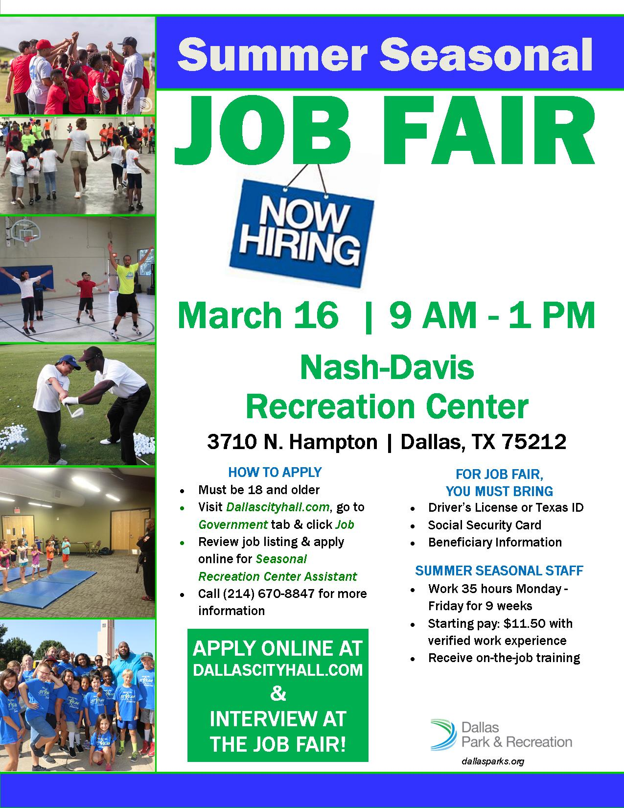 2019 Job Fair flier
