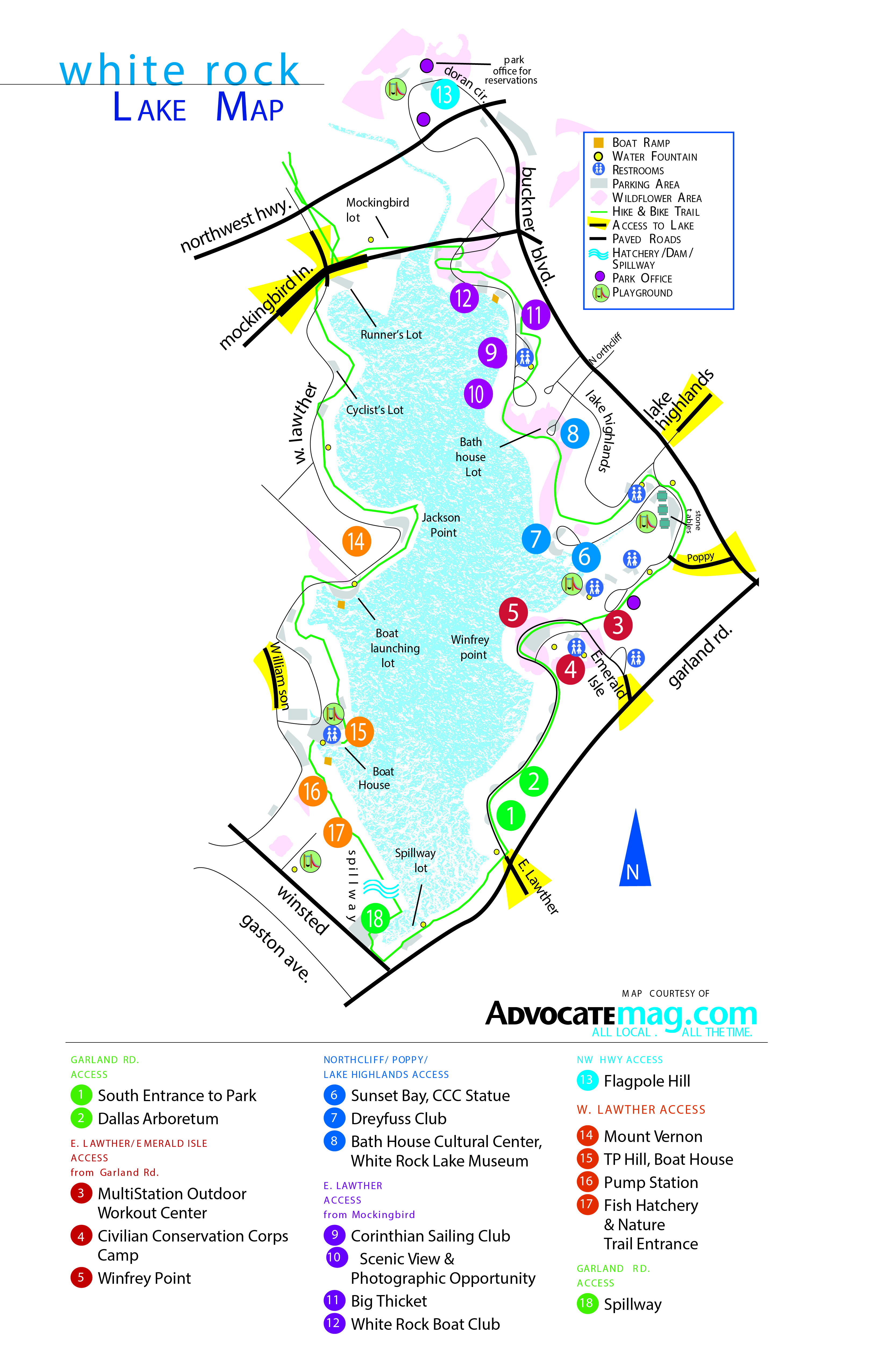White Rock Lake Map