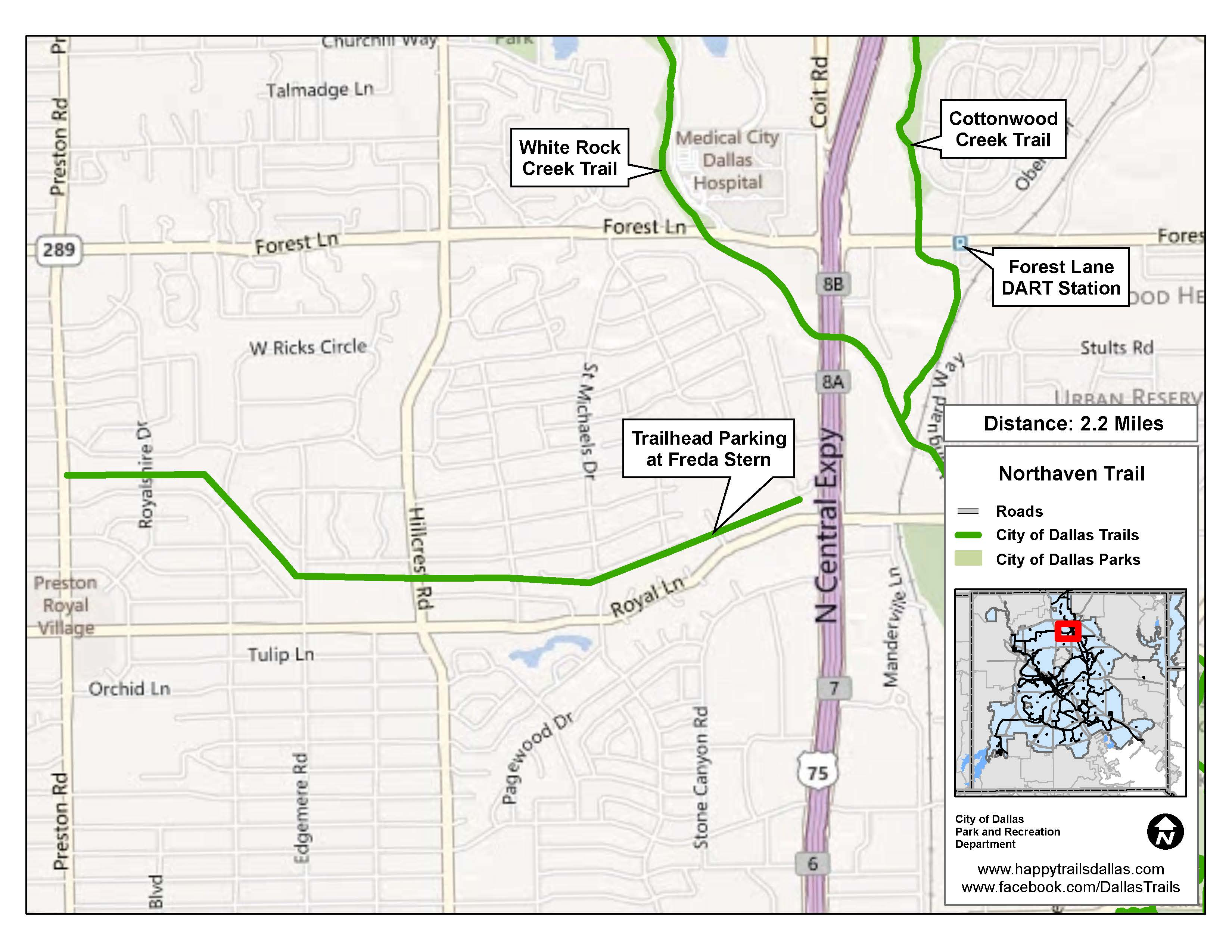 Northaven Trail Map Opens in new window