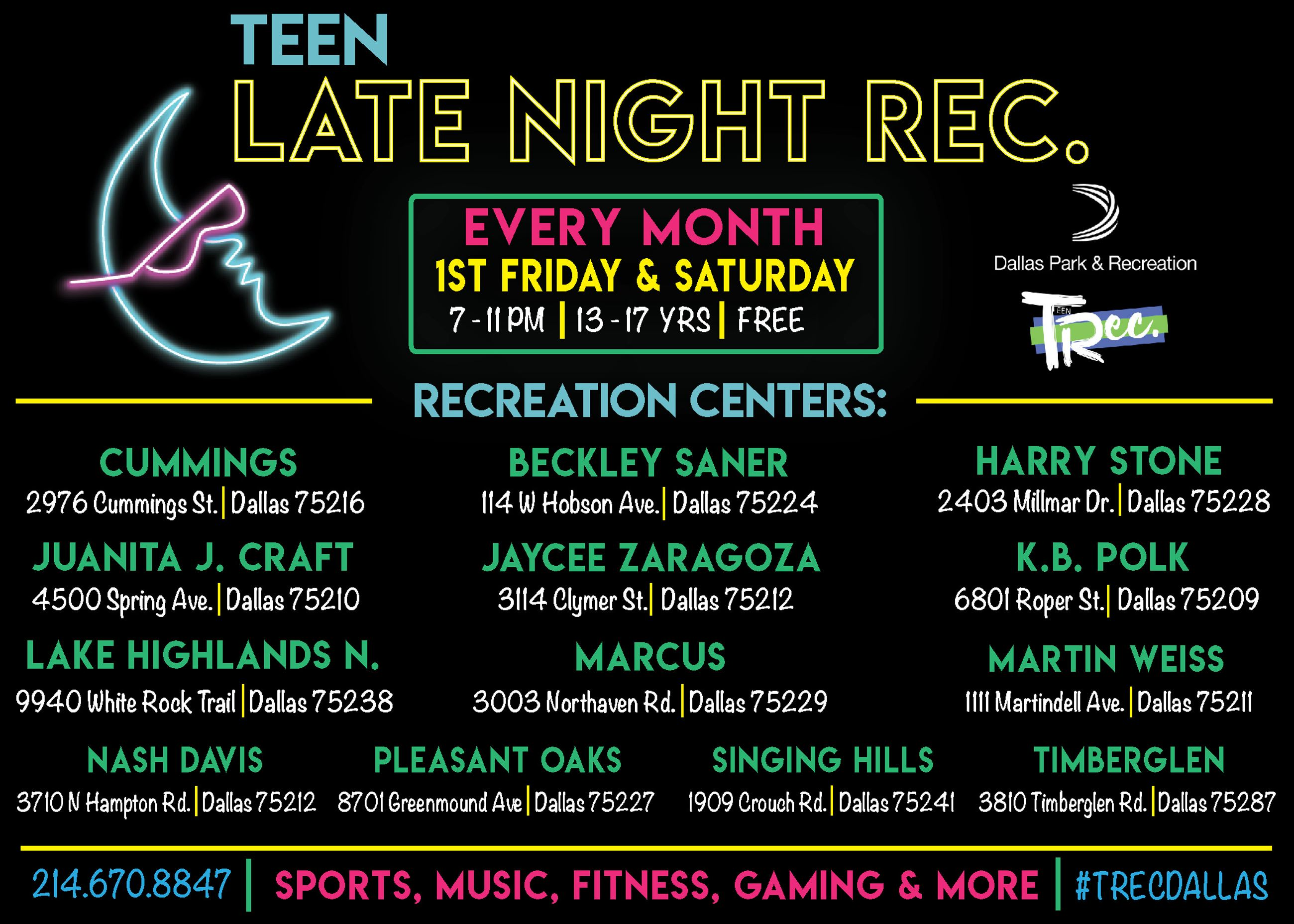 Late Night Rec Flyer