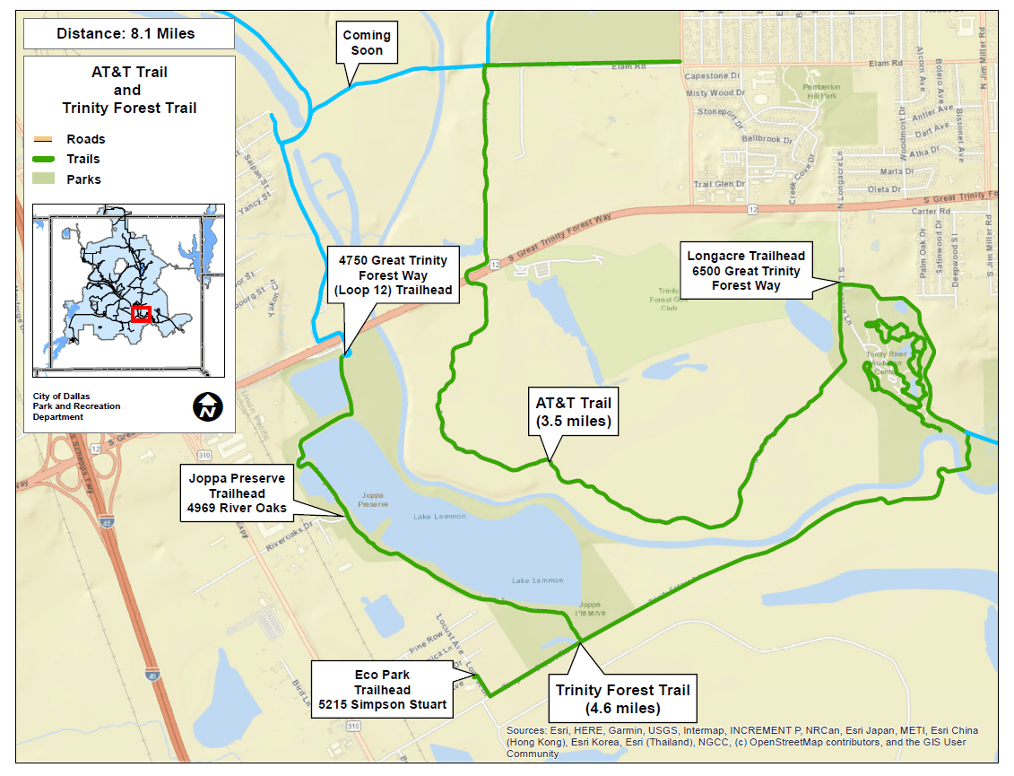 ATT-Trinity Forest Trails Opens in new window