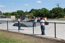 Children at skate park