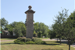 Land monument at Abrams Road Triangle