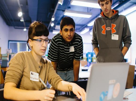 Teen tech mentor
